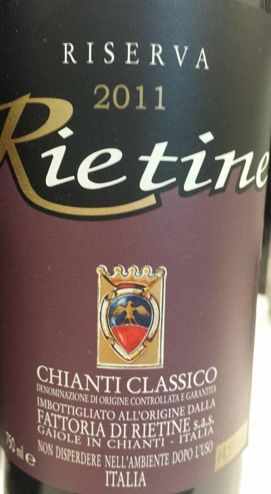 Rietine 2011 – Chianti Classico Riserva