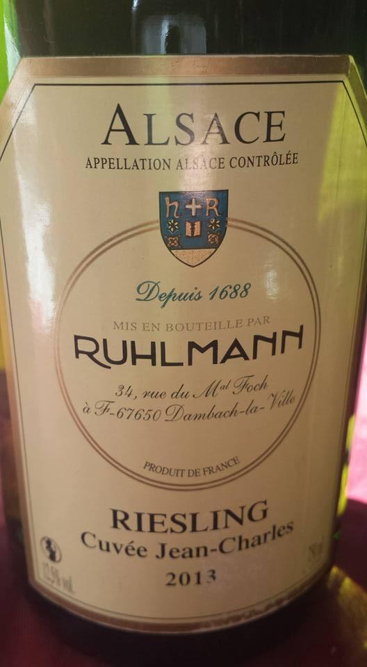 Ruhlmann – Riesling Cuvée Jean-Charles 2013 – Alsace