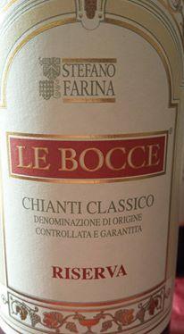 Stefano Farina – Le bocce 2010 – Chianti Classico Riserva