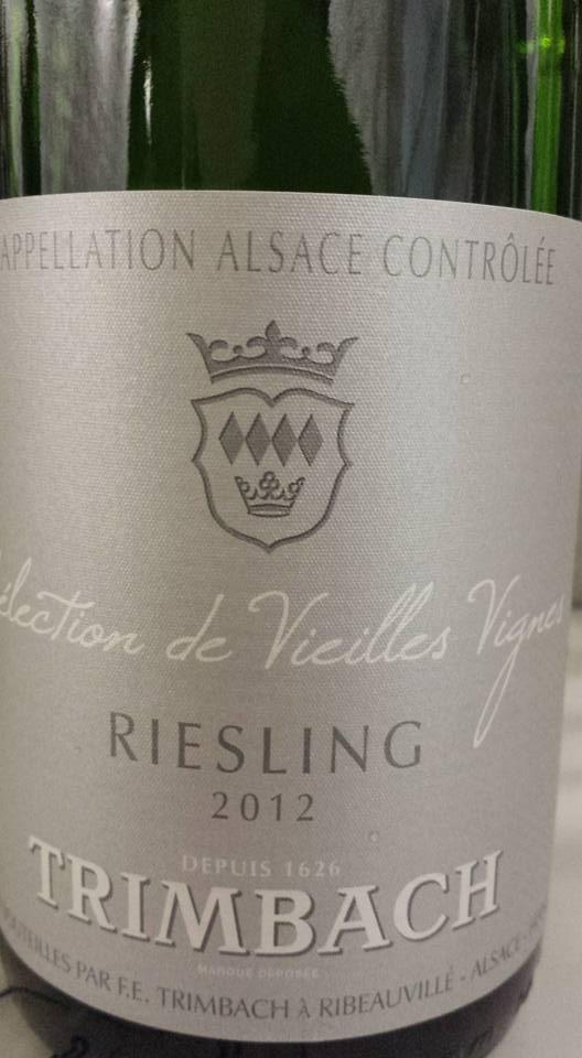 Trimbach – Sélection de Vieilles Vignes – Riesling 2012 – Alsace