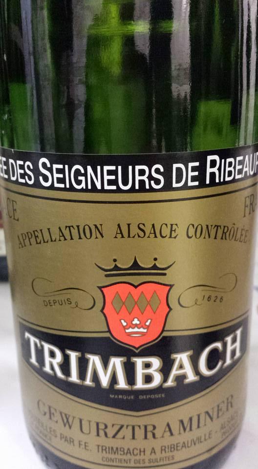 Trimbach – Gewurztraminer – Cuvée des Seigneurs de Ribeaupierre 2008 – Alsace