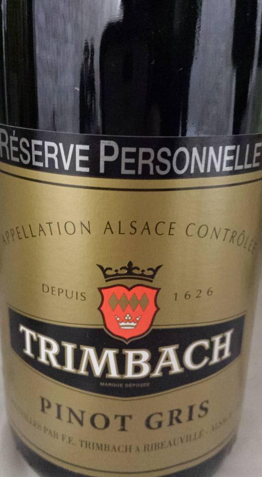 Trimbach – Pinot Gris – Réserve Personnelle 2010 – Alsace