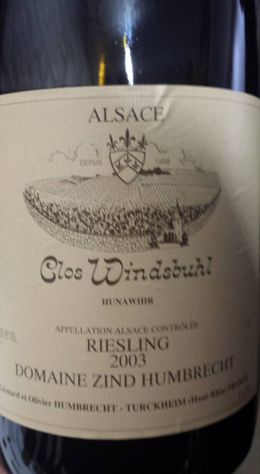 Domaine Zind Humbrecht – Clos Windsbuhl Riesling 2003 – Alsace