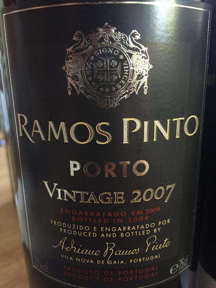 Ramos Pinto – Vintage 2007 – Porto