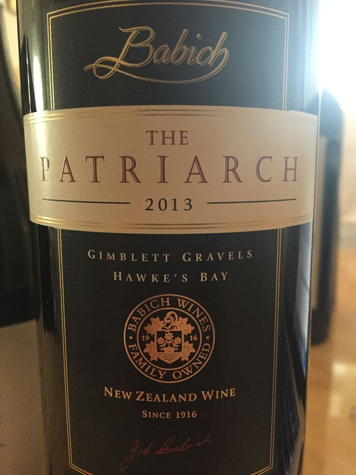 Babich – The Patriarch 2013 – Gimblett gravels – Hawke's Bay – New Zealand