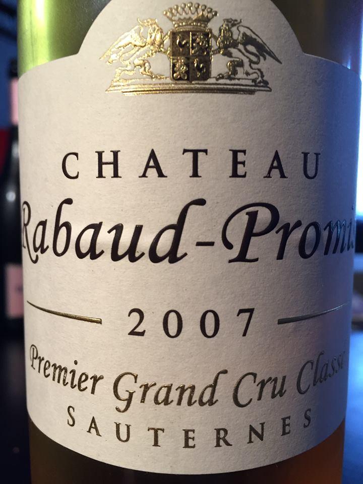 Château Rabaud-Promis 2007 – 1er Grand Cru Classé, Sauternes