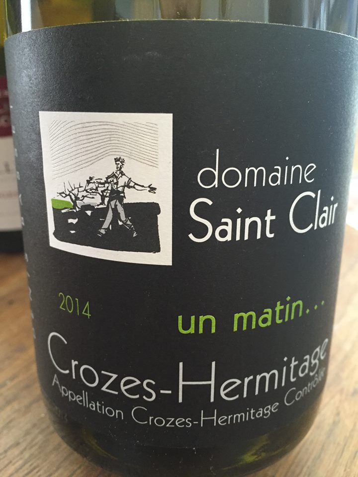 Domaine Saint Clair 2014 – Un matin… – Denis Basset – Crozes-Hermitage