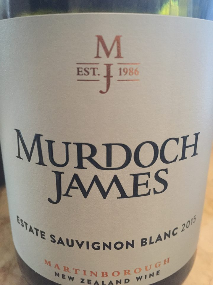 Murdoch James – Estate Sauvignon Blanc 2015 – Martinborough