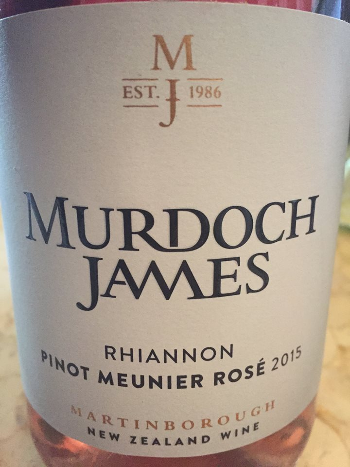 Murdoch James – Rhiannon – Pinot Meunier Rosé 2013 – Martinborough