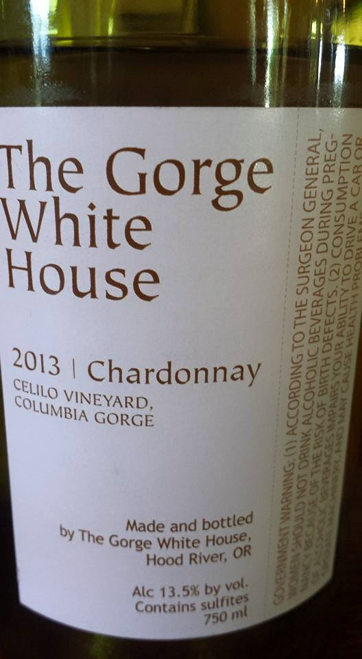 The Gorge White – Chardonnay 2013 – Celilo Vineyard – Columbia Gorge
