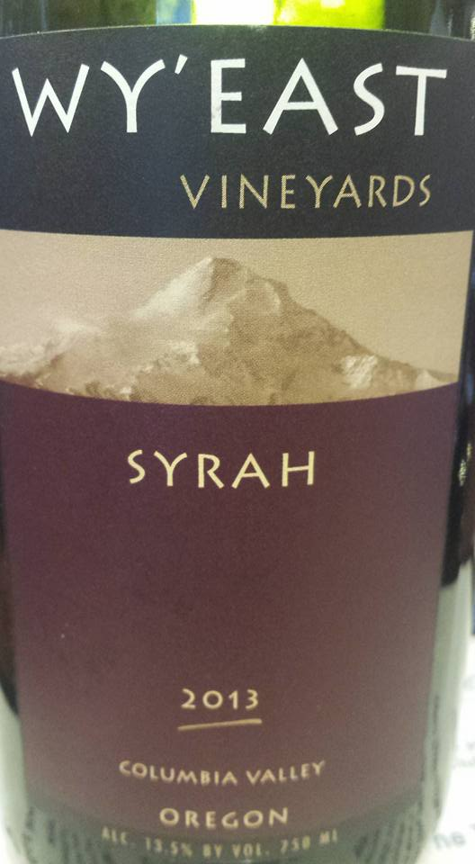 Wy'East – Syrah 2013 – Columbia Valley