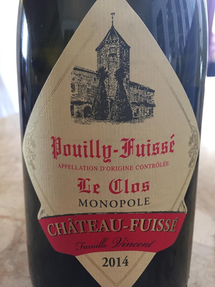 Château-Fuissé – Le Clos 2014 Monopole – Pouilly-Fuissé