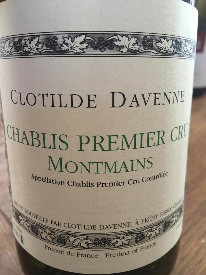 Clotilde Davenne – Montmains 2014 – Chablis Premier Cru