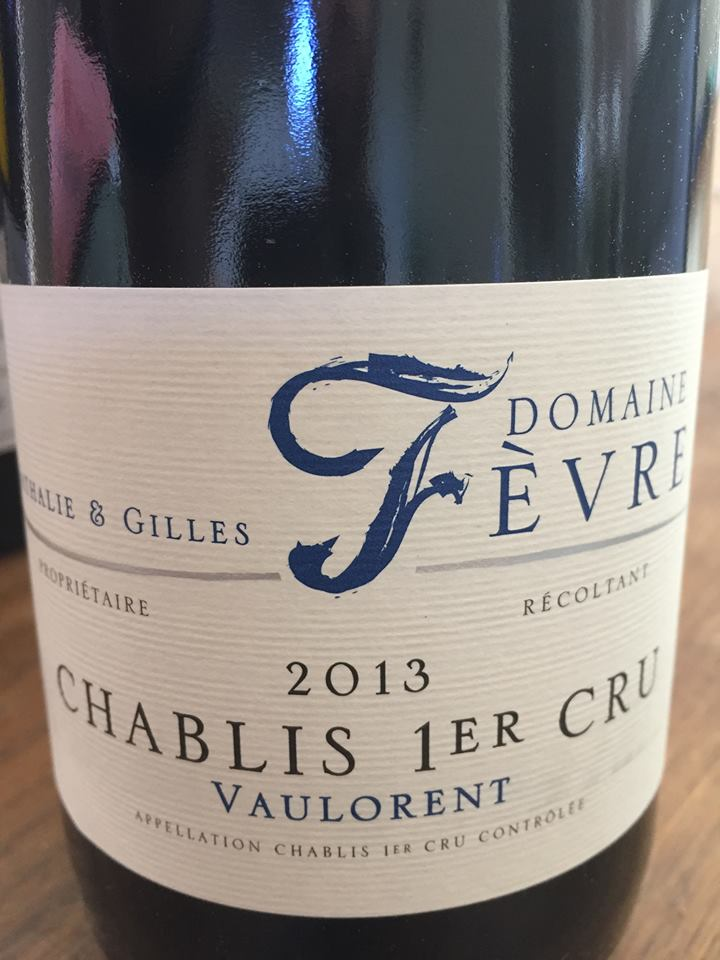 Domaine Nathalie & Gilles Fèvre – Vaulorent 2013 – Chablis 1er Cru