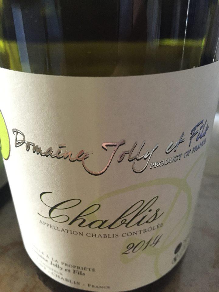 Domaine Jolly et Fils 2014 – Chablis