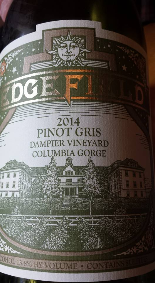 Edge Field – Pinot Gris 2014 – Dampier Vineyard – Columbia Gorge