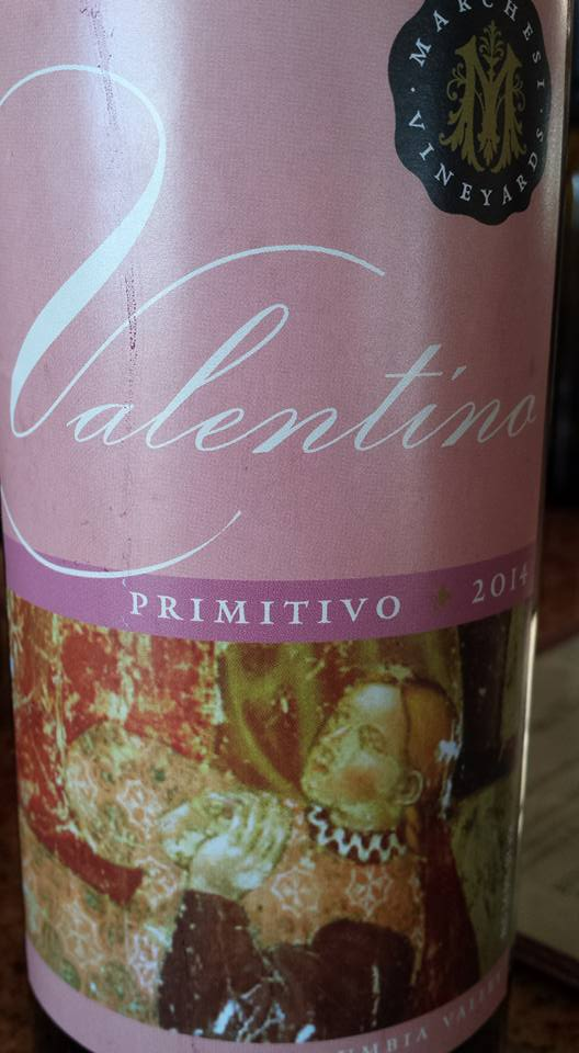 Marchesi Winery – Valentino 2014 – Primitivo – Washington