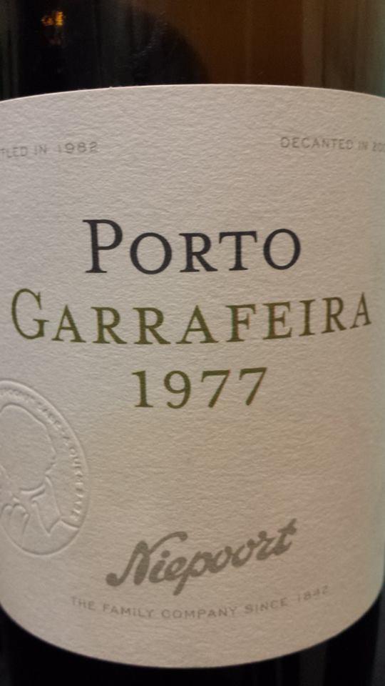 Niepoort 1977 – Garrafeira Porto