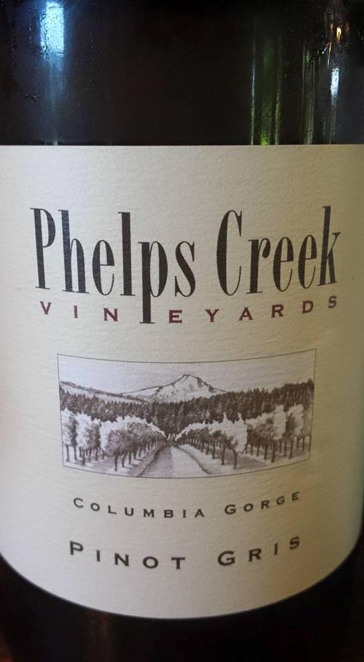 Phelps Creek Vineyards – Pinot Gris 2014 – Columbia Gorge