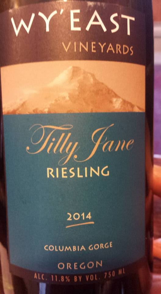 Wy'East Vineyards – Tilly Jane Riesling 2014 – Columbia Gorge
