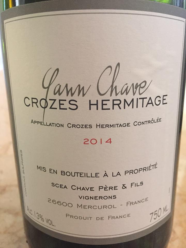 Yanne Chave 2014 – Crozes-Hermitage