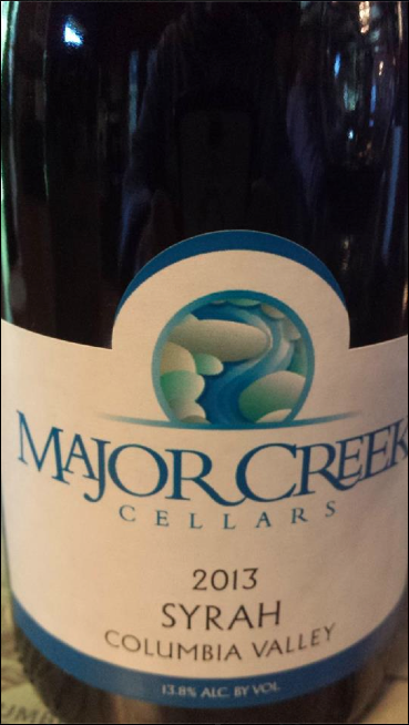 Major Creek Cellars 2013 – Syrah – Columbia Valley