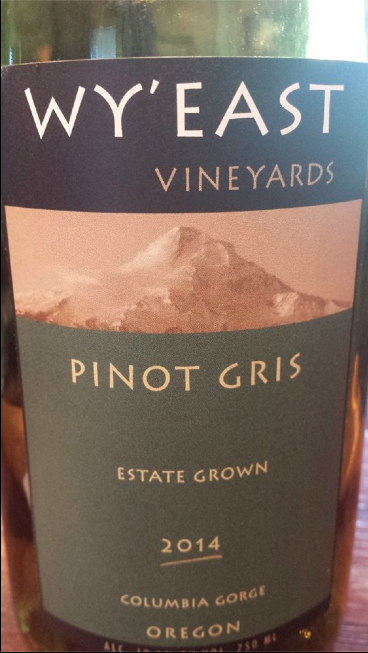 Wy'East Vineyards – Pinot Gris 2014 – Estate Grown – Columbia Gorge