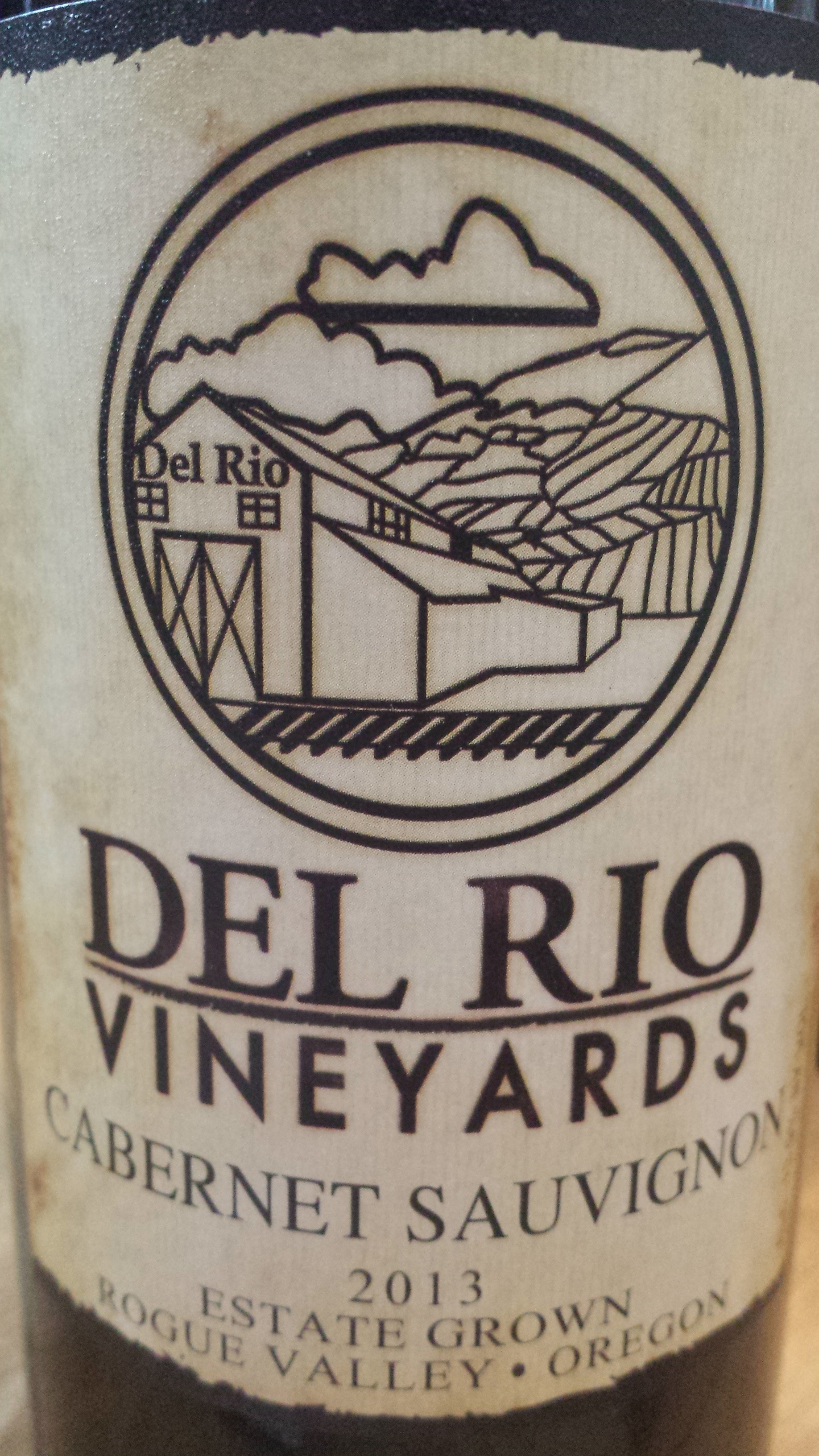 Del Rio Vineyards – Cabernet Sauvignon 2013 – Estate Grown – Rogue Valley