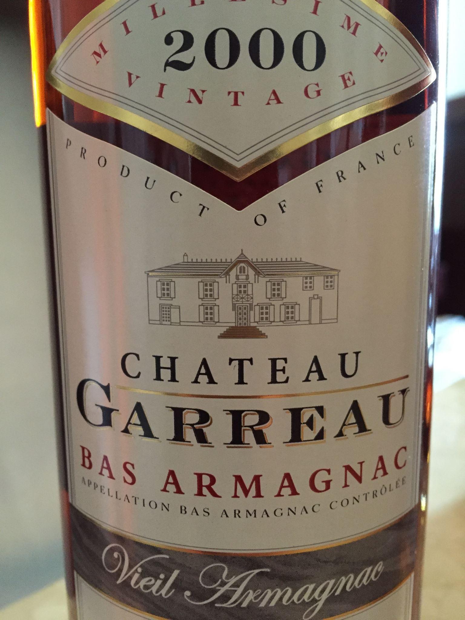 Château Garreau 2000 – Bas-Armagnac – Viel Armagnac