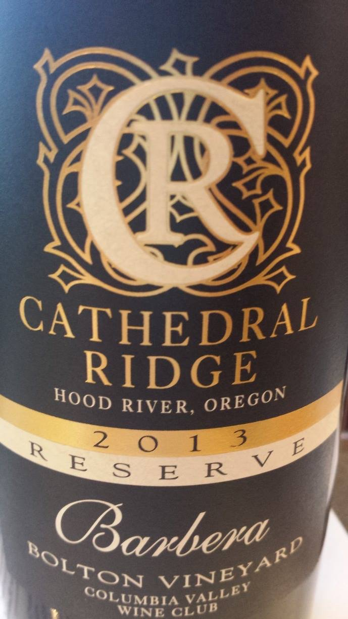 Cathedral Ridge – Barbera 2013 Reserve – Bolton Vineyard – Columbia Valley