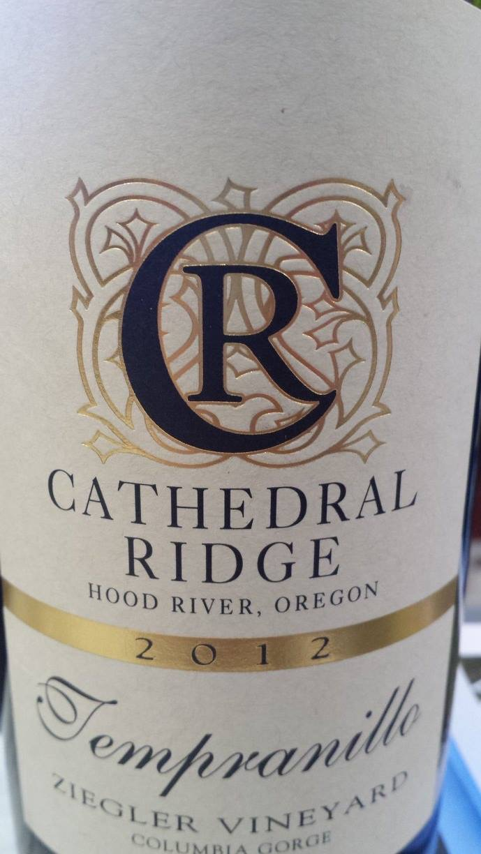 Cathedral Ridge – Tempranillo 2012 – Ziegler Vineyard – Columbia Gorge – Washington