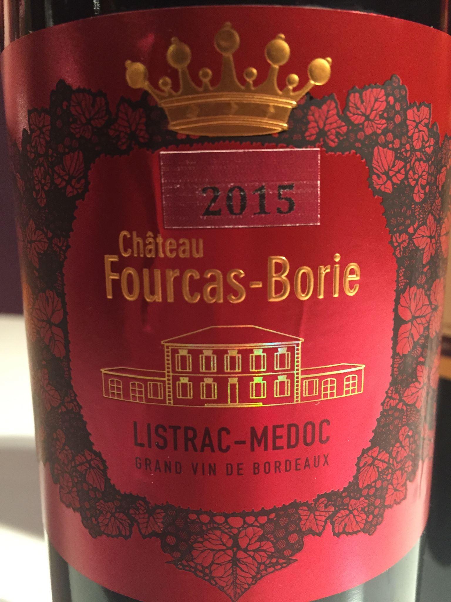 Château Fourcas-Borie 2015 – Listrac-Médoc
