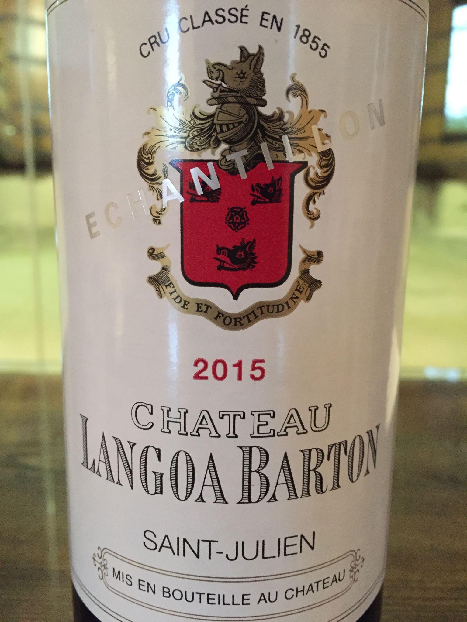 Château Langoa Barton 2015 – Saint-Julien, 3ème Grand Cru Classé
