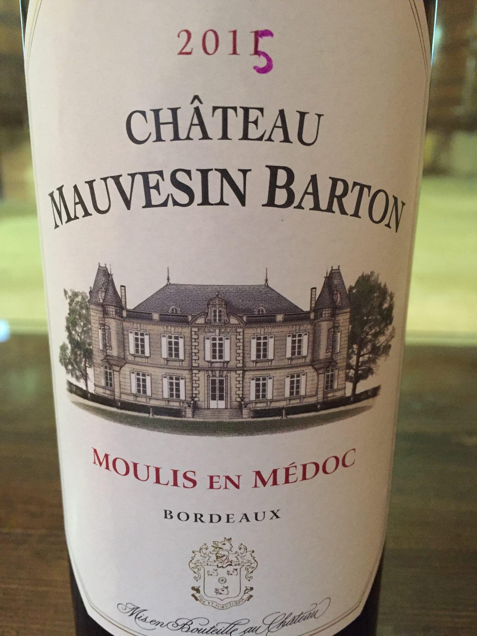 Château Mauvesin Barton 2015 – Moulis-en-Médoc