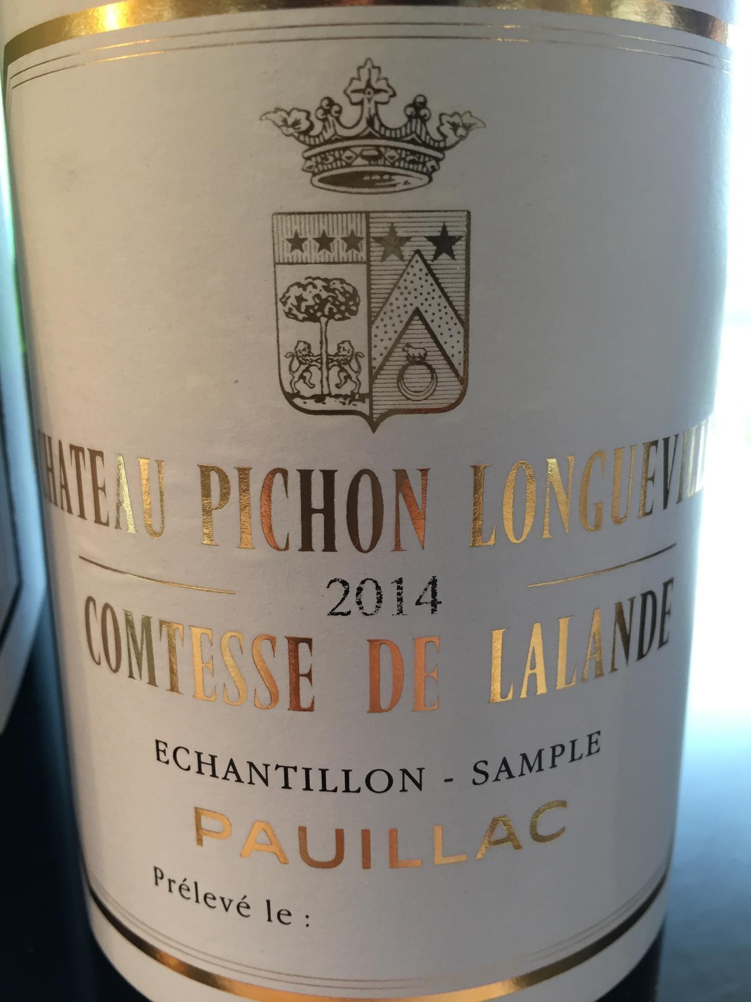 Château Pichon Longueville Comtesse de Lalande 2015 – Pauillac, Grand Cru Classé