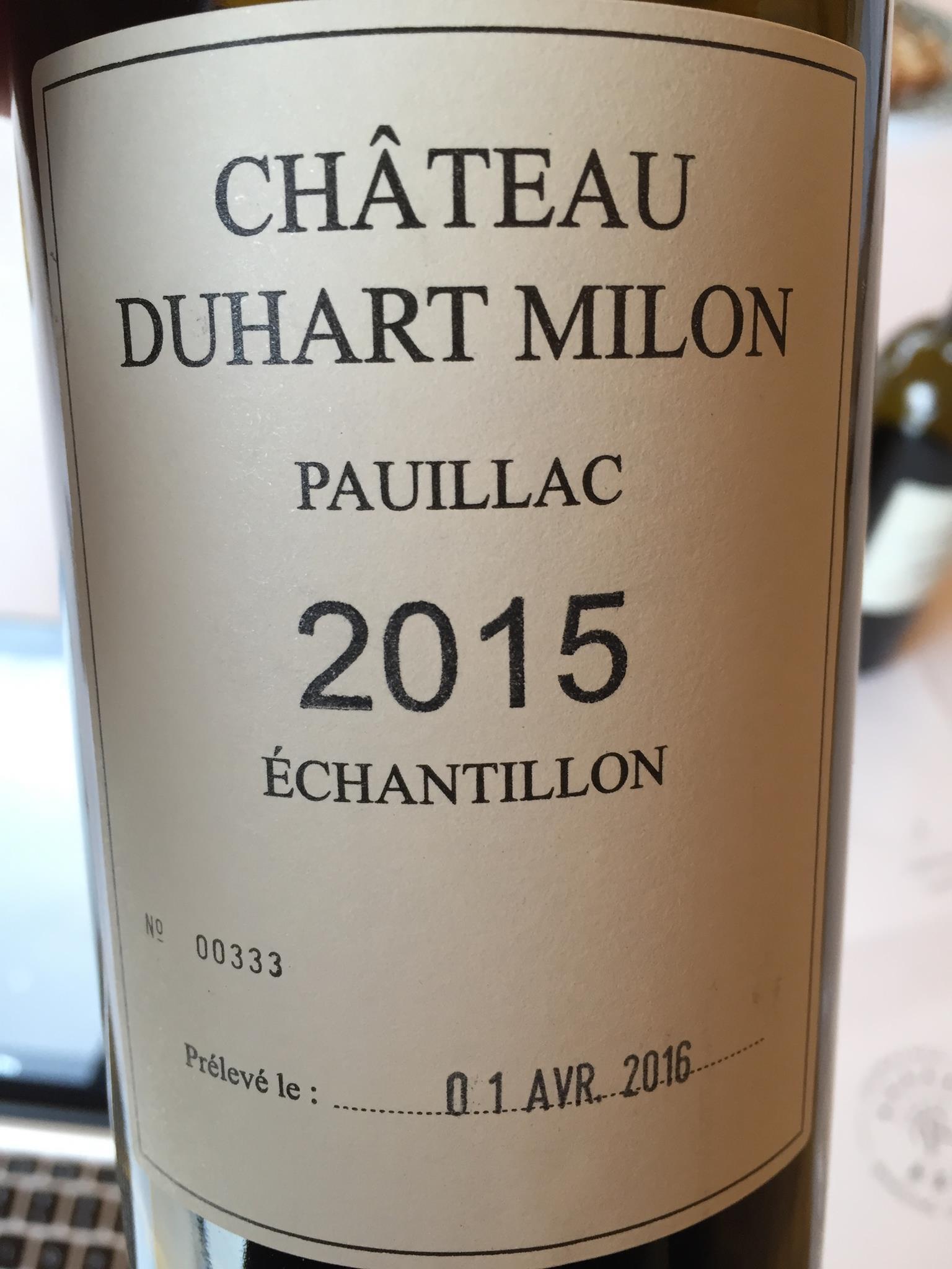 Château Duhart Milon 2015 – Pauillac, 4ème Grand Cru Classé