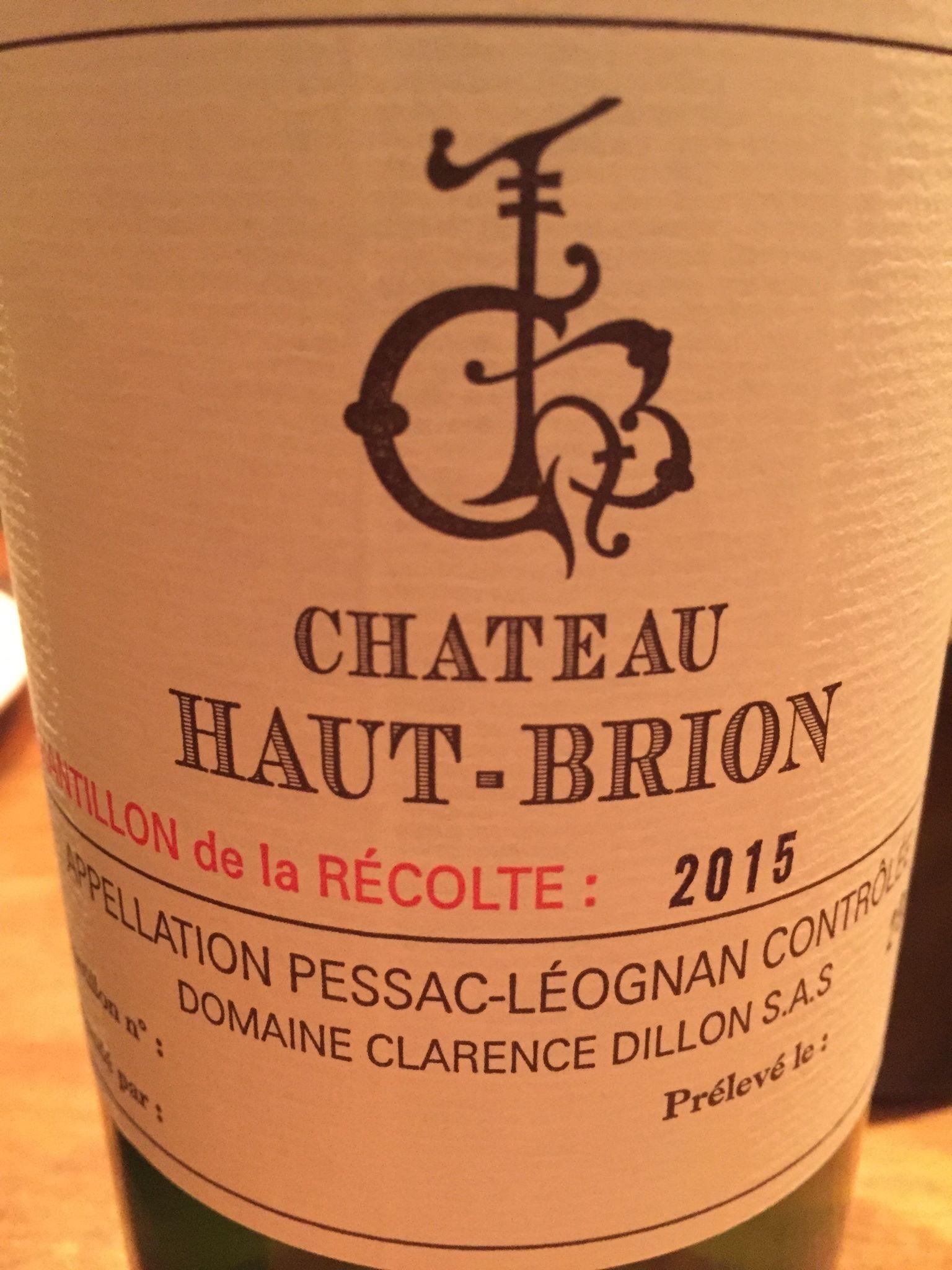 Chateau Haut-Brion 2015 Pessac – Leognan, Grand Cru Classe de Graves