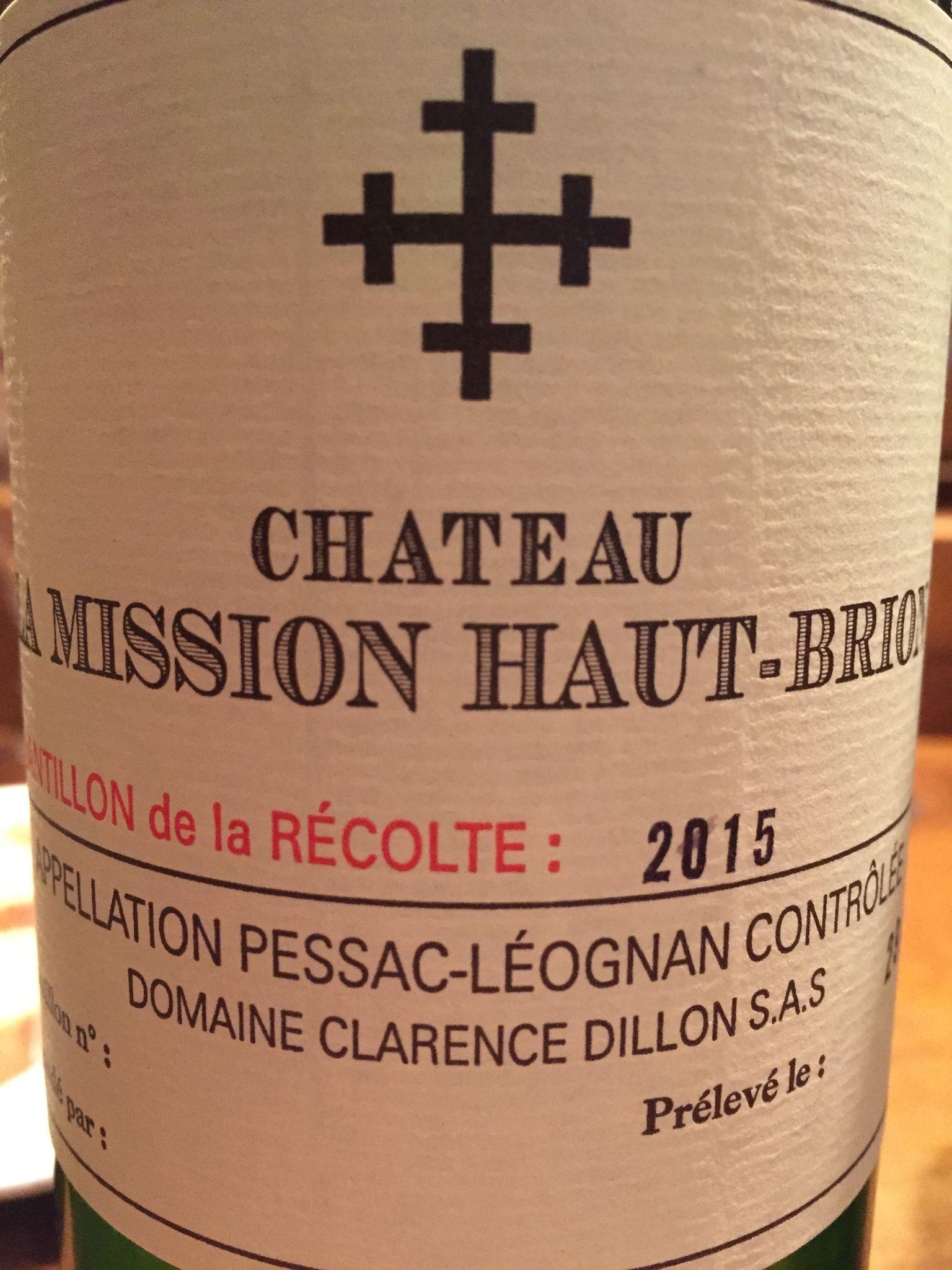 Château La Mission Haut-Brion 2015 – Pessac-Léognan
