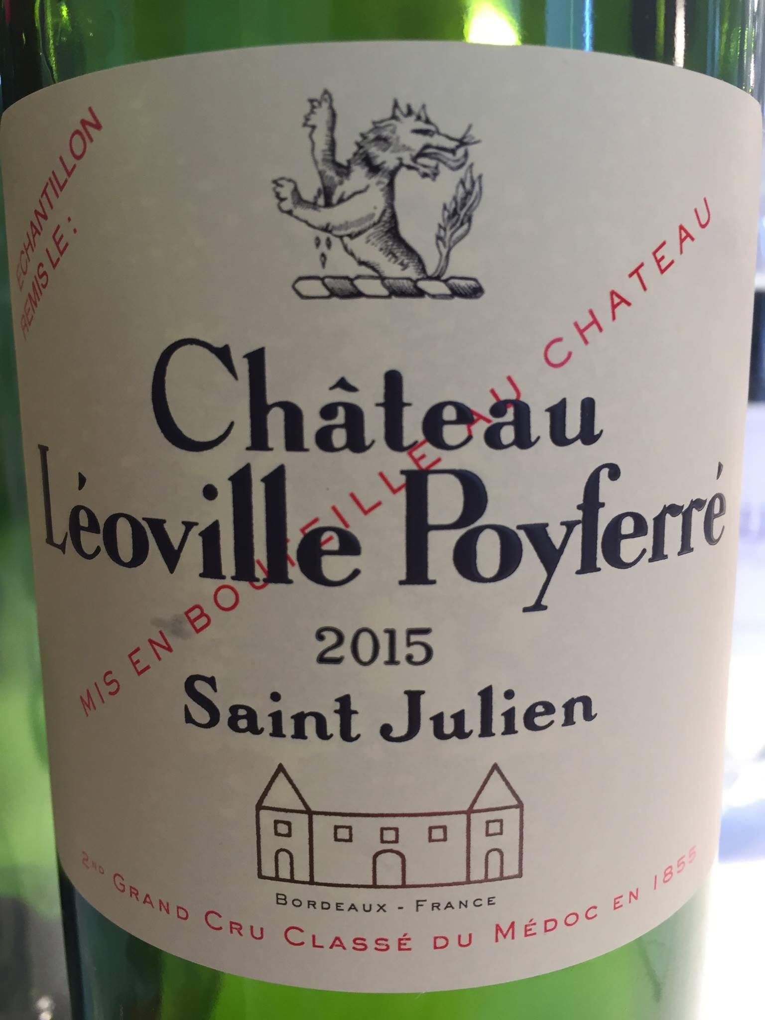 Château Léoville Poyferré 2015 – Saint-Julien, 2nd Grand Cru Classé