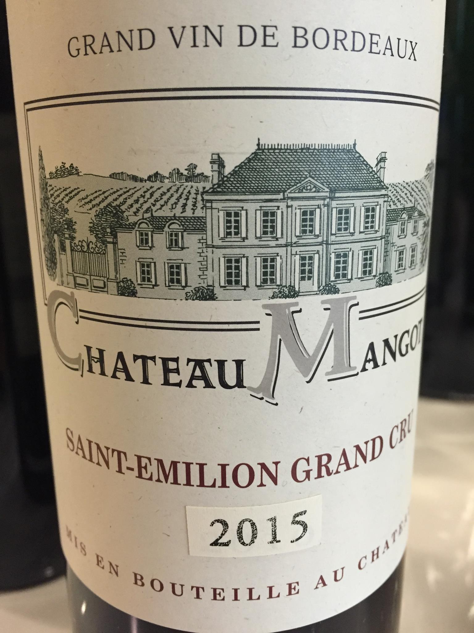 Château Mangot 2015 – Saint-Emilion Grand Cru