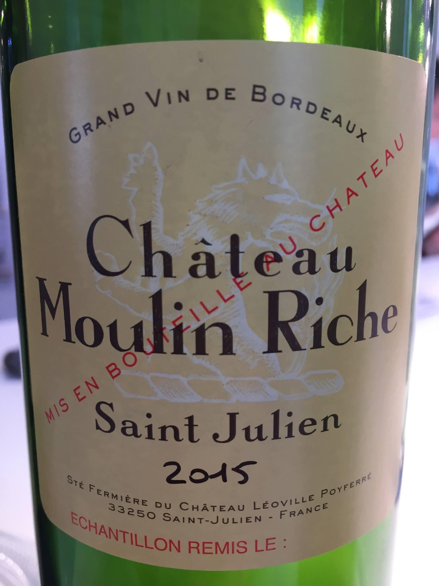 Château Moulin Riche 2015 – Saint-Julien