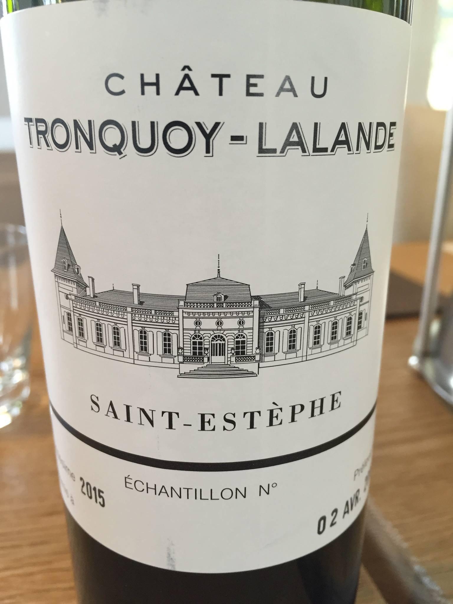 Château Tronquoy-Lalande 2015 – Saint-Estèphe