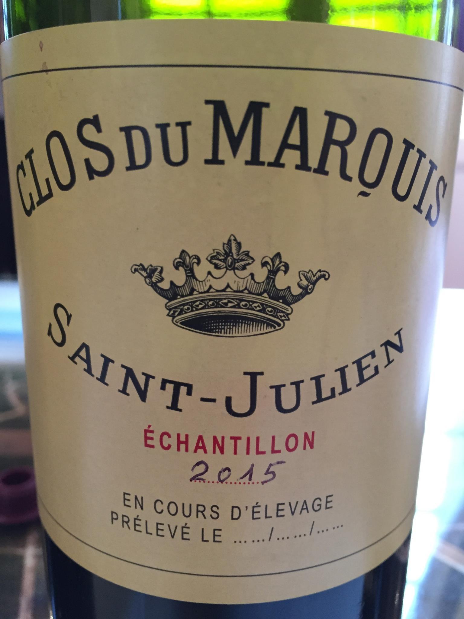 Clos du Marquis 2015 – Saint-Julien