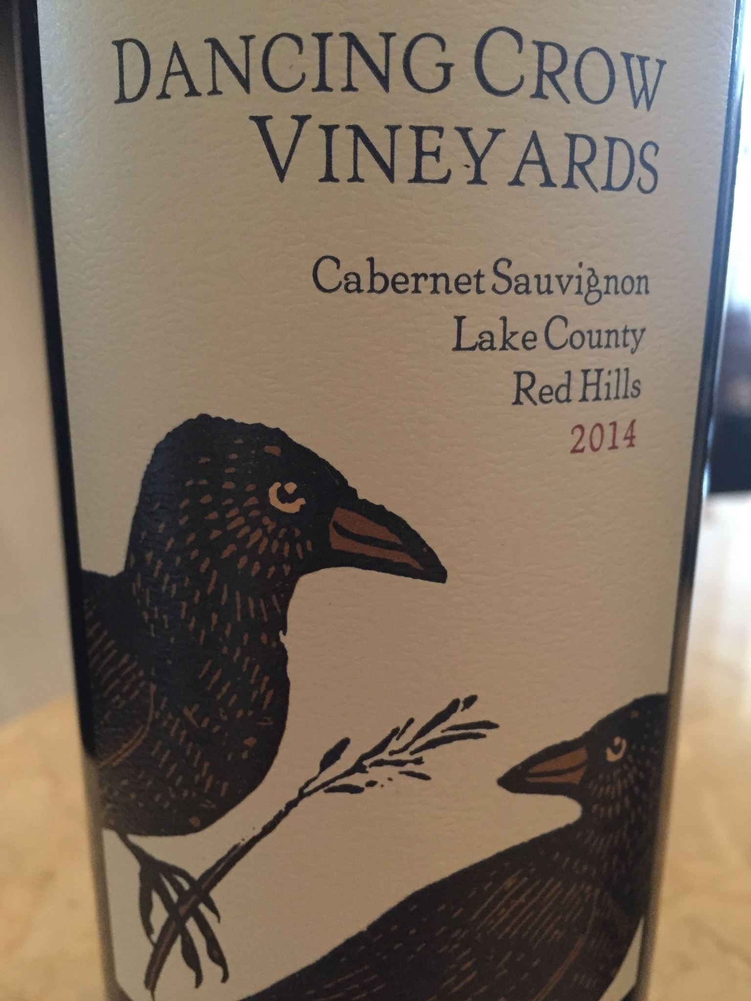 Dancing Crow Vineyards – Cabernet Sauvignon 2014 – Lake County Red Hills