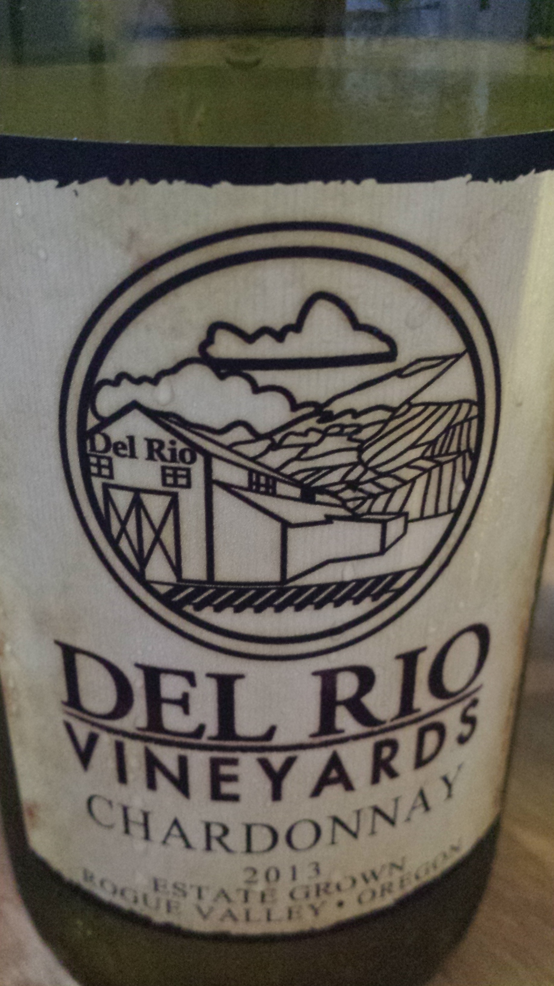 Del Rio Vineyards – Chardonnay 2013 – Estate Grown – Rogue Valley