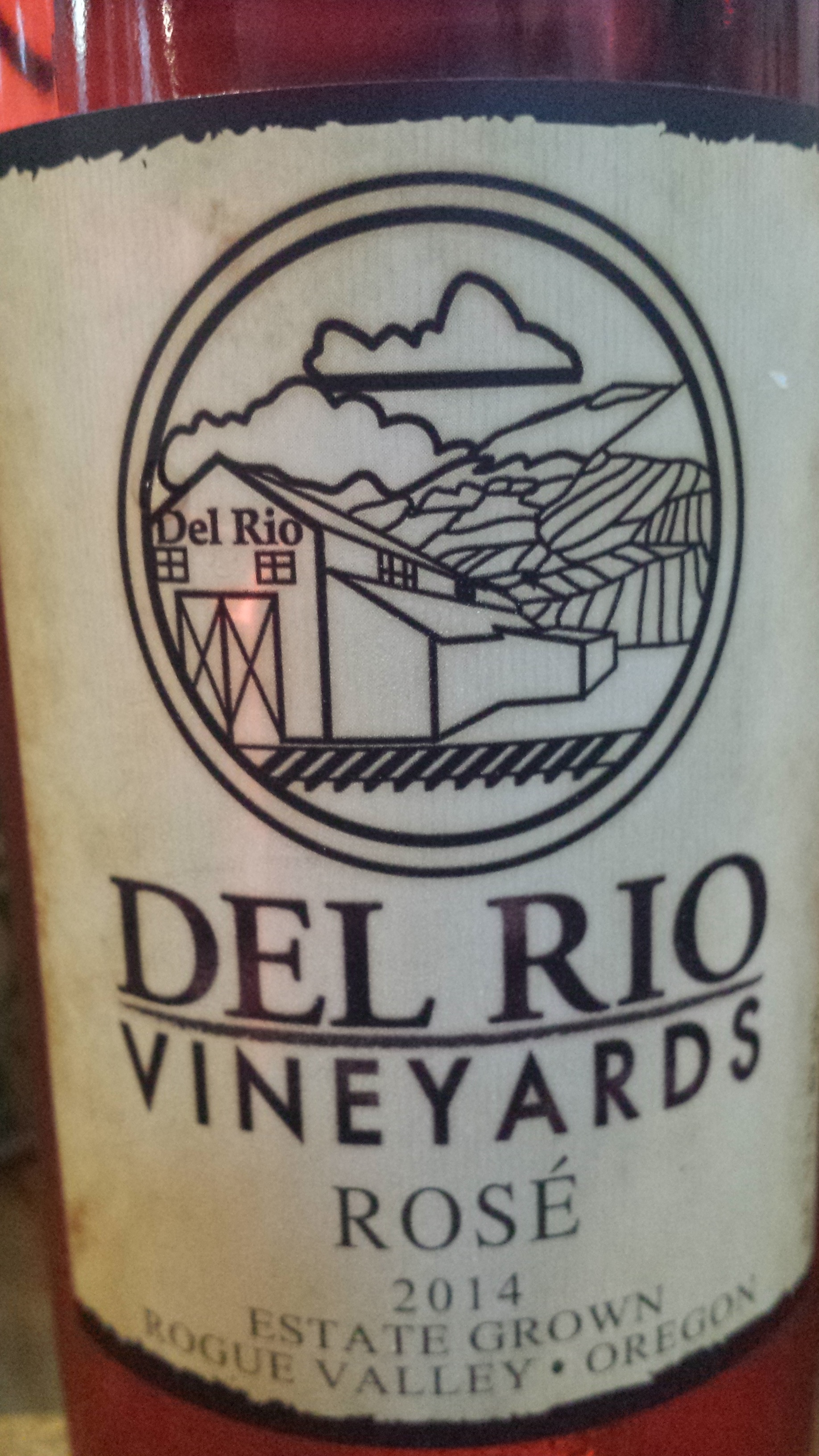 Del Rio Vineyards – Merlot Rosé 2014 – Estate Grown – Rogue Valley