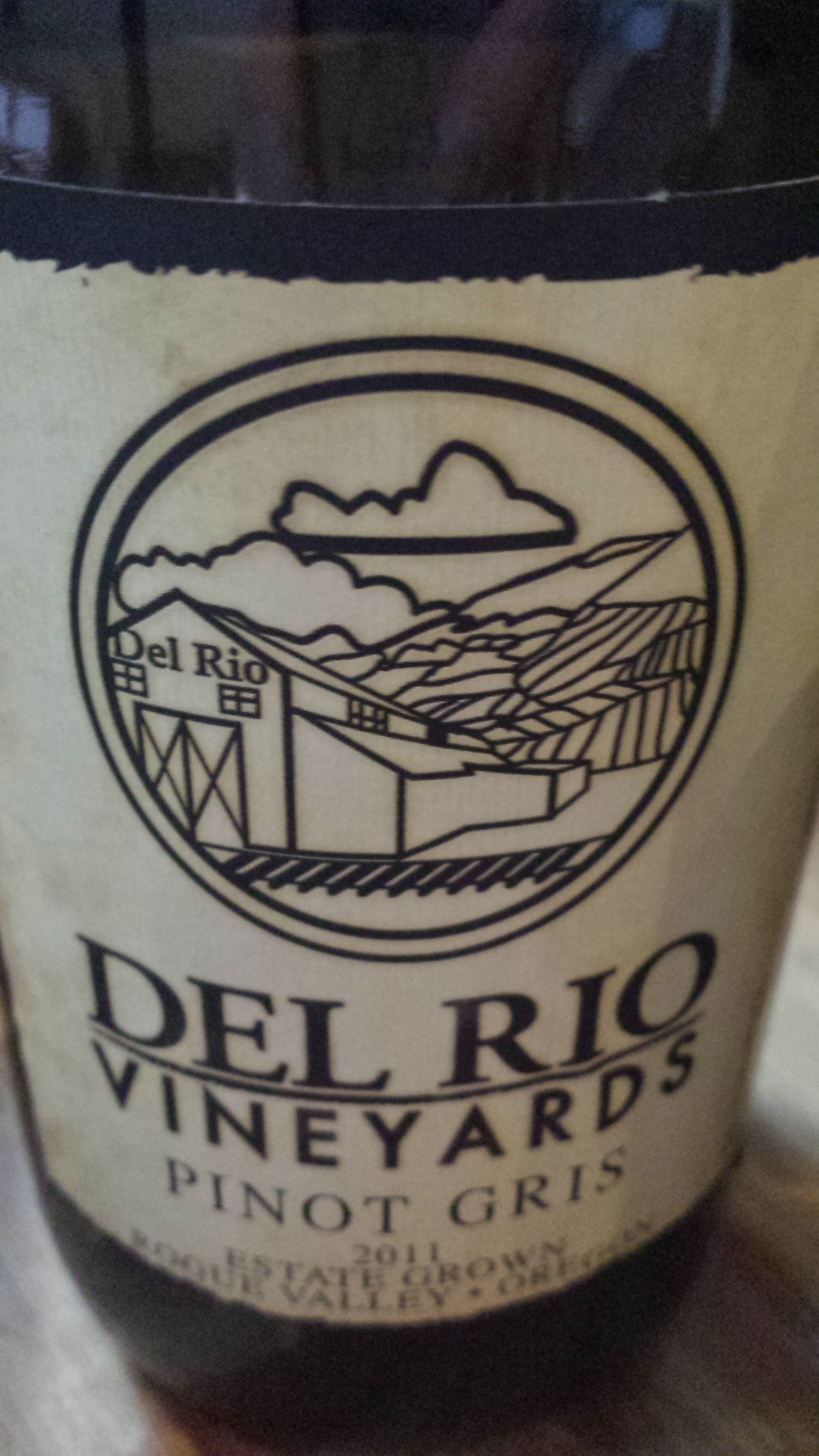 Del Rio Vineyards – Pinot Gris 2011 – Estate Grown – Rogue Valley