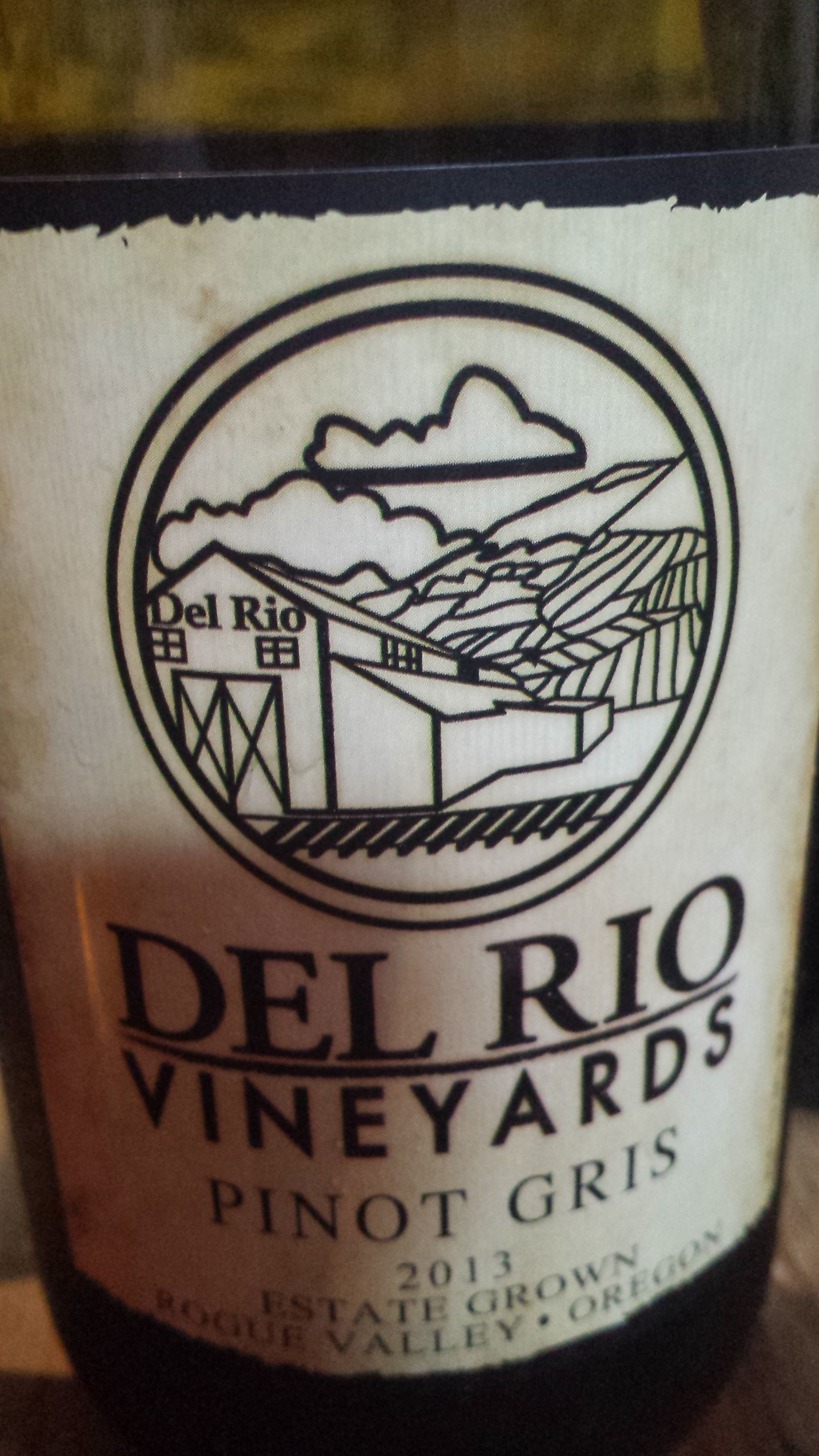 Del Rio Vineyards – Pinot Gris 2013 – Estate Grown – Rogue Valley