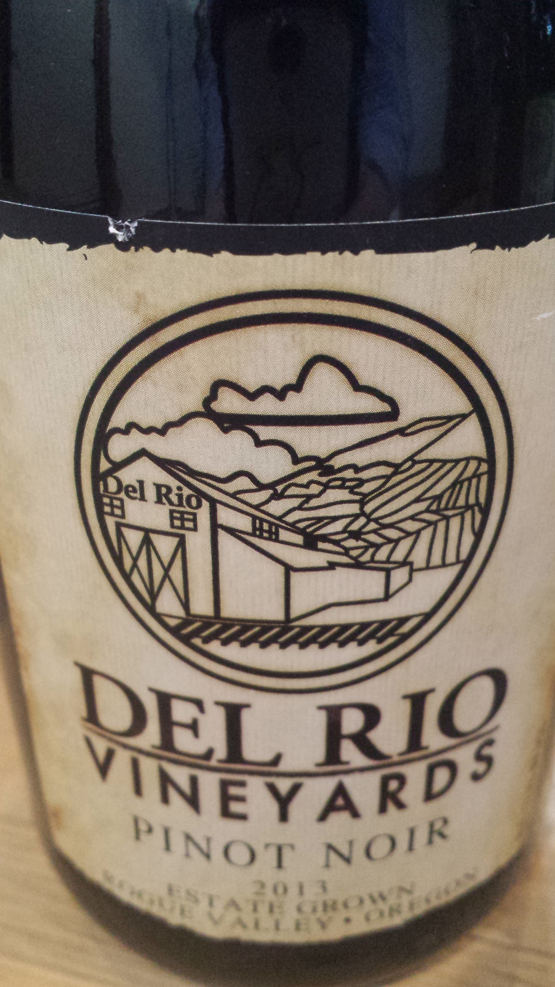 Del Rio Vineyards – Pinot Noir 2013 – Estate Grown – Rogue Valley