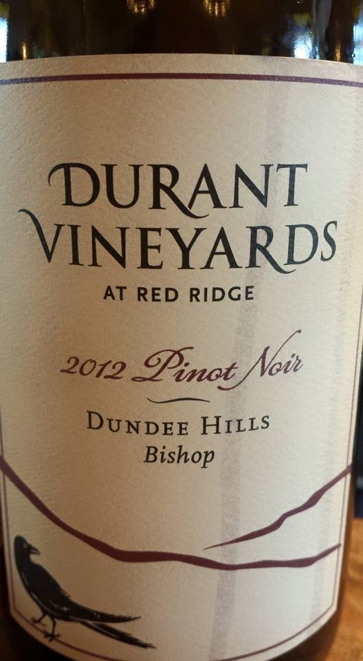 Durant Vineyards – At Red Ridge – Pinot Noir 2012 – Bishop – Dundee Hills